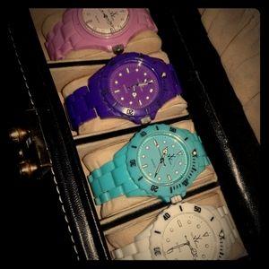 Toy watch ToyWatch Blue purple white pink watch